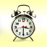 Alarm clock with clipping path. When taken in open ground on the alarm clock can be used Royalty Free Stock Image