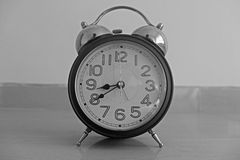 Alarm clock. Close-up of an alarm clock equipment Stock Photo