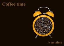 Alarm clock with coffee beans 2 Stock Photo