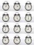 Alarm clock collage. Stock Photos