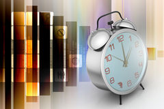 Alarm clock. In color background Stock Images