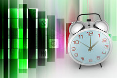 Alarm clock. In color background Royalty Free Stock Photos