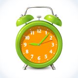 Alarm clock color emblem Stock Photos