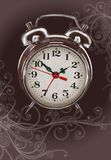 Alarm clock -  color paint & floral ornament Stock Photography