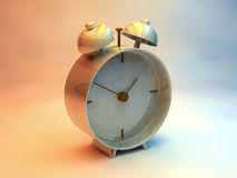 Alarm clock. The clock on a colored background royalty free illustration