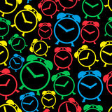 Alarm clock colors icons seamless pattern eps10 Royalty Free Stock Images