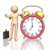 Alarm clock. This is a computer generated image,on white background vector illustration
