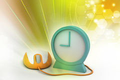 Alarm clock and computer mouse Stock Images