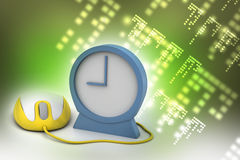 Alarm clock and computer mouse Stock Photography