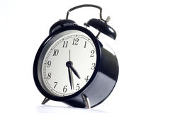 Alarm clock concept time flies Stock Photo