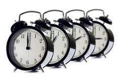 Alarm clock concept time flies Royalty Free Stock Image