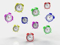 Alarm clock 3d isolated on white backgkround Stock Photography