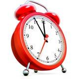 Alarm clock. 3D rendering of a alarm clock stock illustration