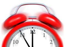 Alarm clock. 3D rendering of an red alarm clock vector illustration