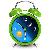 Alarm clock, day and night concept Royalty Free Stock Image