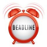 Alarm Clock with Deadline Word Royalty Free Stock Photos