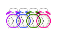 Alarm clock design on white Royalty Free Stock Photography