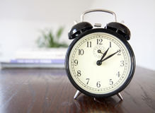 Alarm clock detail. Vintage alarm clock detail closeup royalty free stock photos