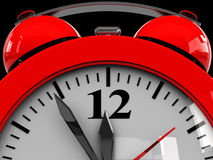 Alarm clock dial Stock Image