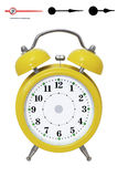 Alarm clock_dial_arrows Royalty Free Stock Photography
