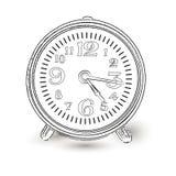 Alarm Clock Doodle. Classic clock Stock Photos
