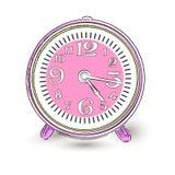 Alarm Clock Doodle. Classic clock Royalty Free Stock Image