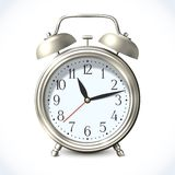 Alarm clock emblem Stock Photo
