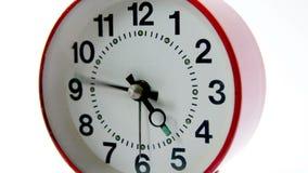 Alarm clock fast course of arrows closeup stock video footage