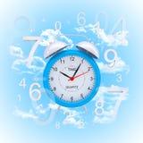 Alarm clock with figures Stock Photos
