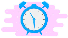 Alarm clock in flat design Royalty Free Stock Photos