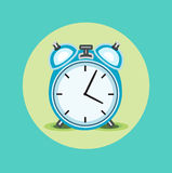 Alarm clock flat icon design Stock Image