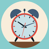 Alarm clock flat vector illustration Stock Photo