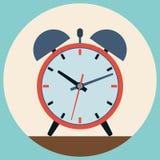 Alarm clock flat vector illustration Stock Photo