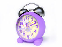 Alarm Clock With Floral Clock-Face Stock Photos