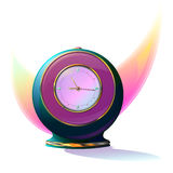 Alarm-clock. Alarm clock in the form of a ball. A table clock royalty free illustration