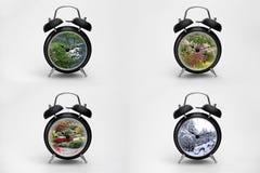 Alarm Clock – Four Seasons Royalty Free Stock Photography