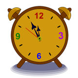 Alarm Clock. Full colors Royalty Free Stock Images