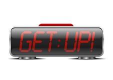 Alarm clock get up Stock Photo
