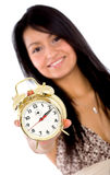 Alarm clock - girl Stock Images