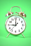 Alarm Clock Green Stock Photography