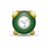 Alarm Clock. Alarm  clock. Green. Vintage style Royalty Free Stock Images