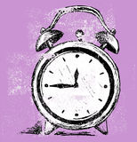 Alarm clock. Grunge style. Vector Royalty Free Stock Image