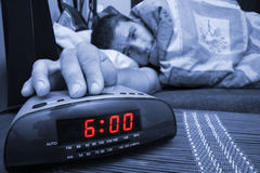 Alarm clock guy Stock Images