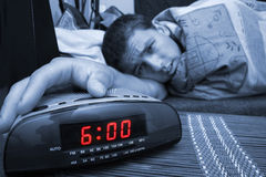 Alarm clock guy stock photos