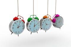 Alarm clock hanging Stock Photography