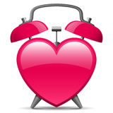 Alarm clock in heart shape. Classic alarm clock in heart shape royalty free illustration