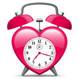 Alarm clock in heart shape Stock Images