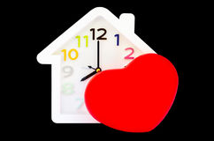 Alarm clock and heart shape Royalty Free Stock Image