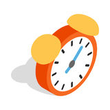 Alarm clock icon, isometric 3d style Royalty Free Stock Photo