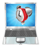 Alarm clock icon laptop concept Royalty Free Stock Photo